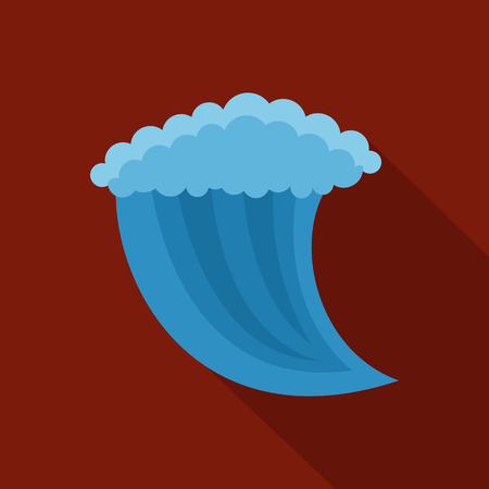 Wave water icon. Illustration
