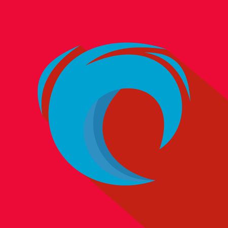 Wave blue icon. Illustration