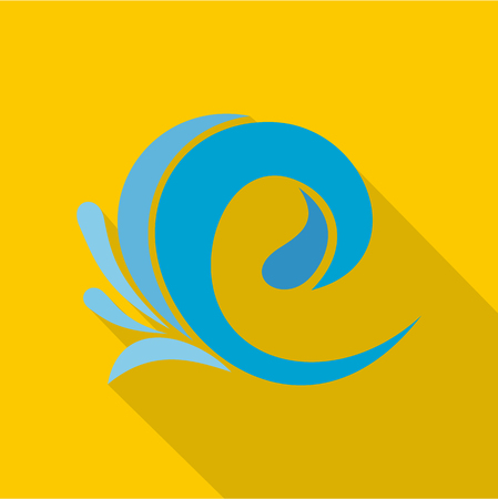 Wave tsunami icon.
