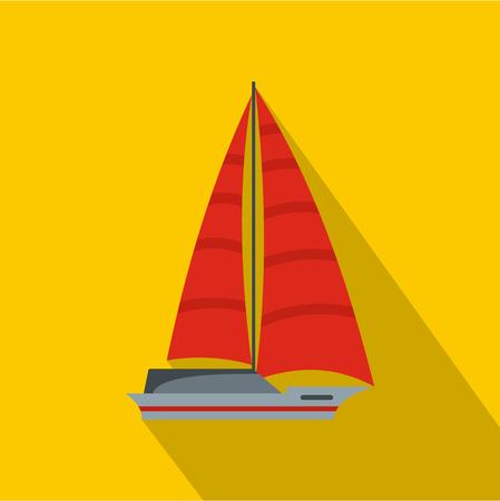 Yacht modern icon.