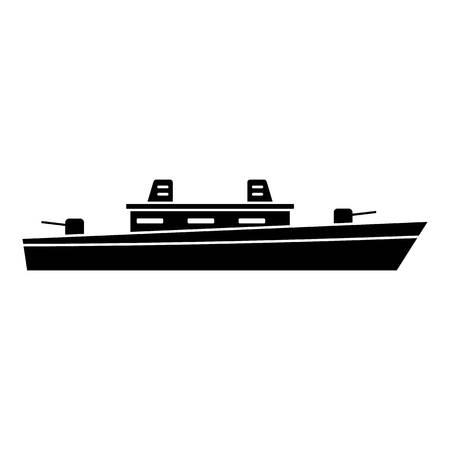 Ship military icon.
