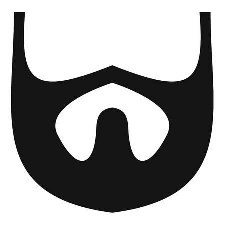 Growth of beard icon. 向量圖像
