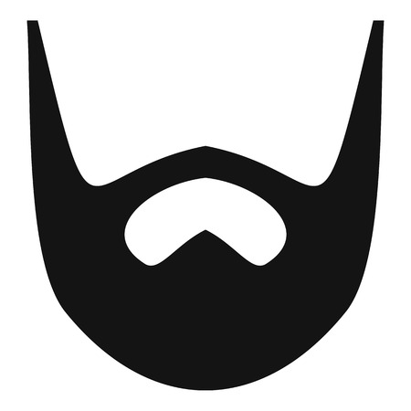 Neat beard icon. Simple illustration of neat beard vector icon for web