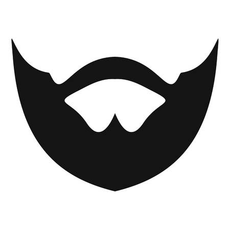 Clipped beard icon. Simple illustration of clipped beard vector icon for web