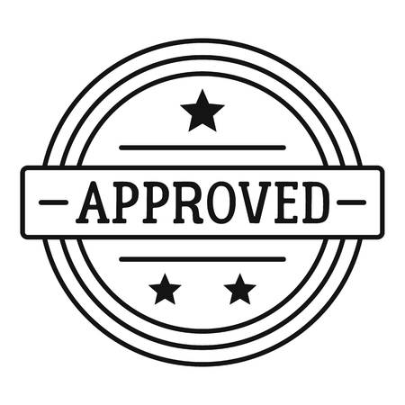 Simple illustration of approved vector logo for web