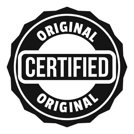 인증 로고. 웹용 인증 벡터 로고의 간단한 그림