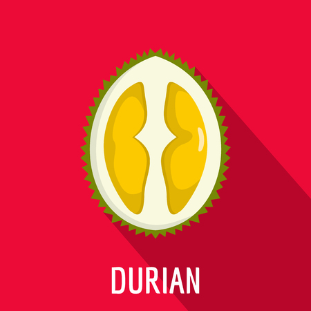 Durian icon. Flat illustration of durian vector icon for web Illustration