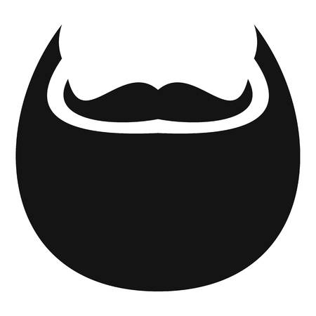 Man beard icon; Simple illustration of man beard vector icon for web.