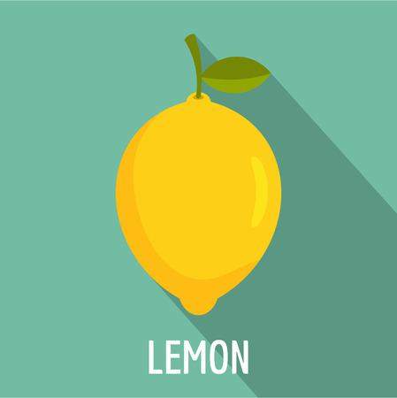 Zitronen-Symbol. Flache Illustration der Zitronenvektorikone für Netz