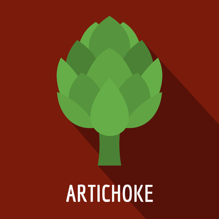 Artichoke icon. Flat illustration of artichoke vector icon for web