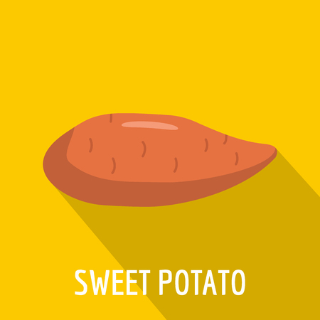 Sweet potato icon. Flat illustration of sweet potato vector icon for web Illustration