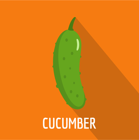Cucumber icon. Flat illustration of cucumber vector icon for web