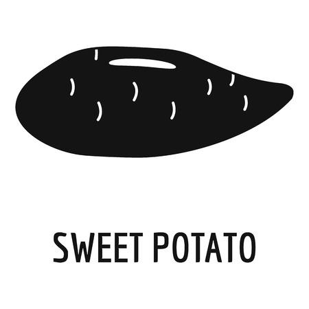 Sweet potato icon. Simple illustration of sweet potato vector icon for web