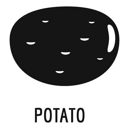 Potato icon. Simple illustration of potato vector icon for web Illustration