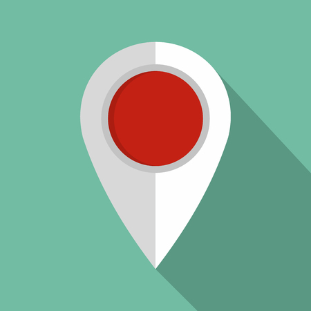 Map pin icon. Flat illustration of map pin vector icon for web Ilustração