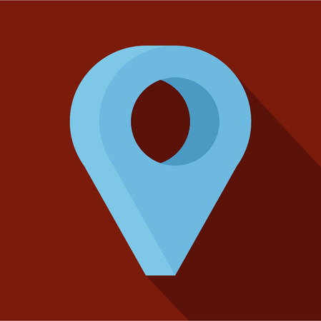 A destination icon. Flat illustration of destination vector icon for web