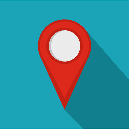 Location mark icon. Flat illustration of location mark vector icon for web