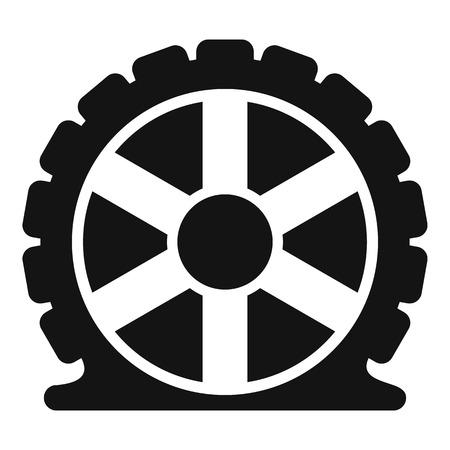 Auto tire icon. Simple illustration of auto tire vector icon for web