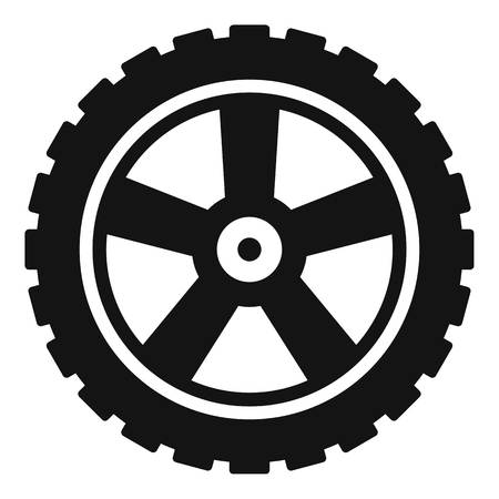 Transport tire icon. Simple illustration of transport tire vector icon for web Vectores