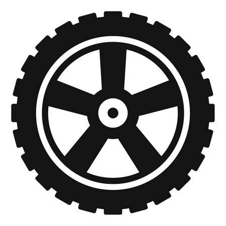 Transport tire icon. Simple illustration of transport tire vector icon for web Stock Illustratie