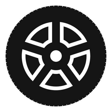 Wheel icon; Simple illustration of wheel vector icon for web.