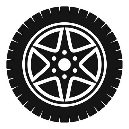 Car wheel icon. Simple illustration of car wheel vector icon for web
