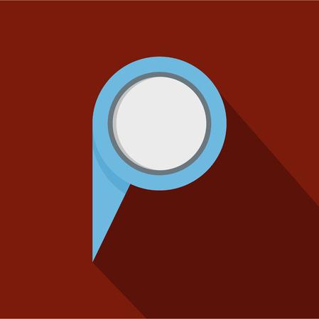 Navigation pin icon; Flat illustration of navigation pin vector icon for web.