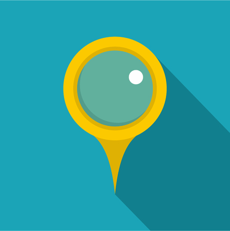 Locate pin icon. Flat illustration of locate pin vector icon for web