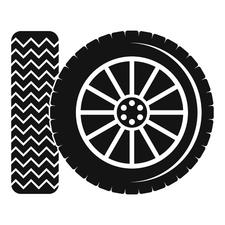 Car tire icon. Simple illustration of car tire vector icon for web Illustration
