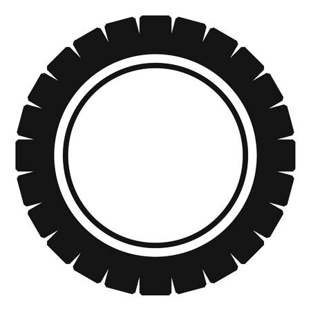 Single tire icon. Simple illustration of single tire vector icon for web