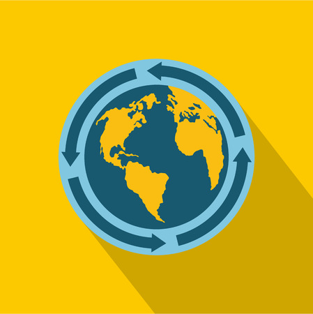 Earth icon. Flat illustration of earth vector icon for web Illustration