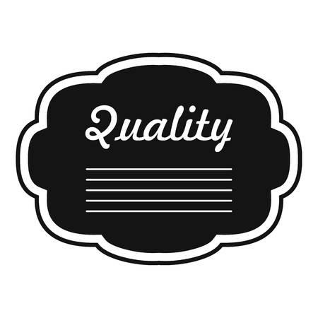 Grade label icon. Simple illustration of grade label vector icon for web Illustration