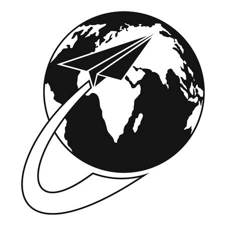 Around the world icon. Simple illustration of around the world vector icon for web Çizim