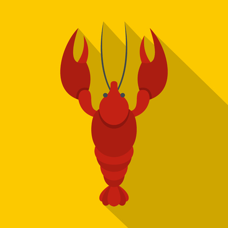 Lobster icon. Flat illustration of lobster vector icon for web
