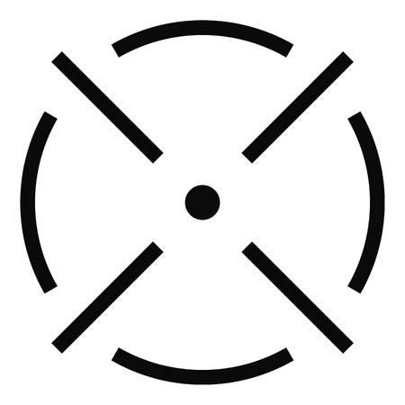 Close radar icon. Simple illustration of close radar vector icon for web