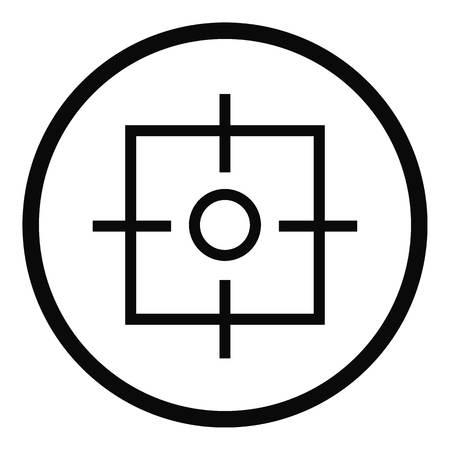 Target icon. Simple illustration of target vector icon for web Illustration