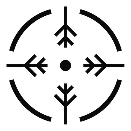 Shoot circle icon. Simple illustration of shoot circle vector icon for web