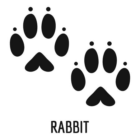 Rabbit step icon. Simple illustration of rabbit step vector icon for web