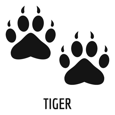 Tiger step icon. Simple illustration of tiger step vector icon for web Vettoriali