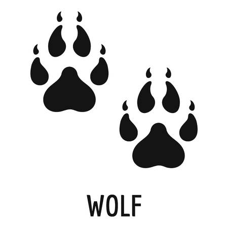 Wolf step icon. Simple illustration of wolf step vector icon for web Vectores