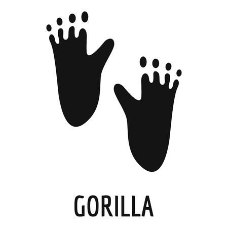 Gorilla step icon. Simple illustration of gorilla step vector icon for web