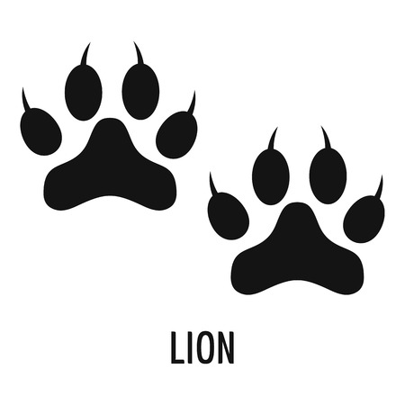 Lion step icon. Simple illustration of lion step vector icon for web Vettoriali