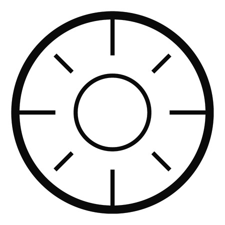 Backsight icon. Simple illustration of backsight vector icon for web