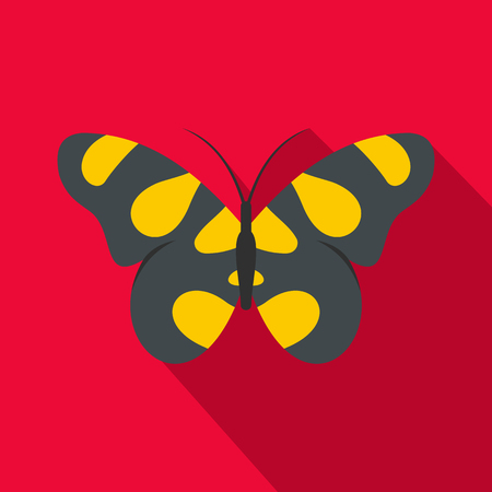 Butterfly in wildlife icon. Flat illustration of butterfly in wildlife vector icon for web Illustration