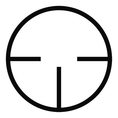 Radar detector icon. Simple illustration of radar detector vector icon for web Illustration