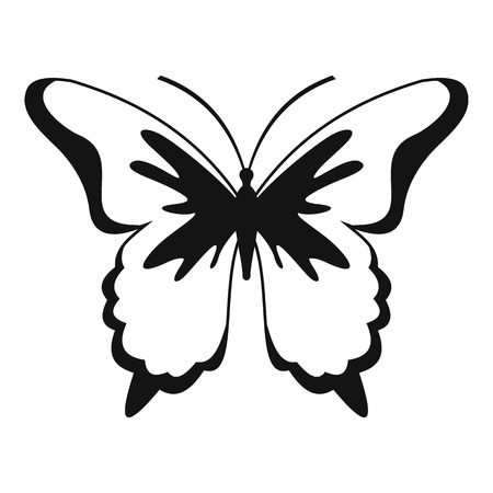 Insect butterfly icon. Simple illustration of insect butterfly vector icon for web