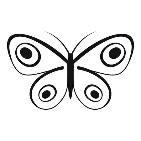 Tiny butterfly icon. Simple illustration of tiny butterfly vector icon for web