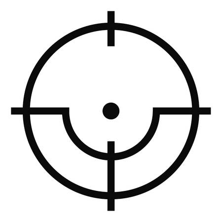 Sniper icon. Simple illustration of sniper vector icon for web Illustration