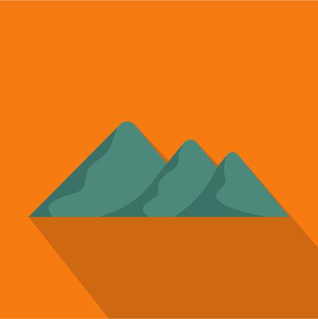 Travel to mountain icon. Flat illustration of travel to mountain vector icon for web Illustration