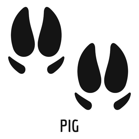 Pig step icon. Simple illustration of pig step vector icon for web